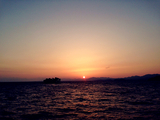 松江宍道湖落日
